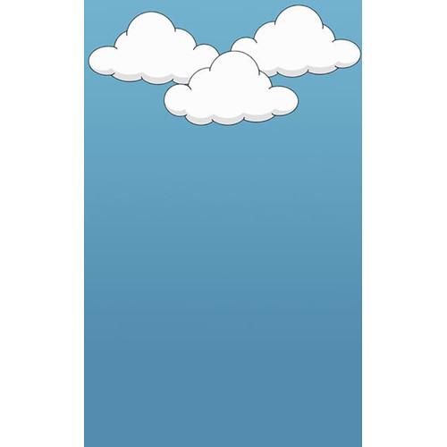 Click Props Backdrops Cartoon Clouds Backdrop (5 x 8')