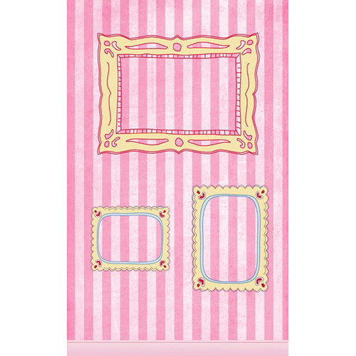 Click Props Backdrops Pink Candy Frame Backdrop (5 x 8')