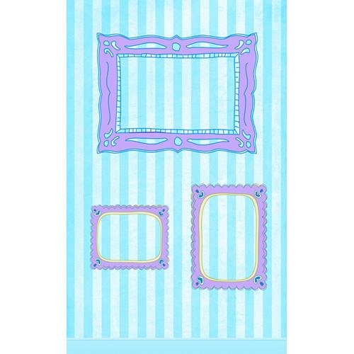 Click Props Backdrops Blue Candy Frame Backdrop (5 x 8')