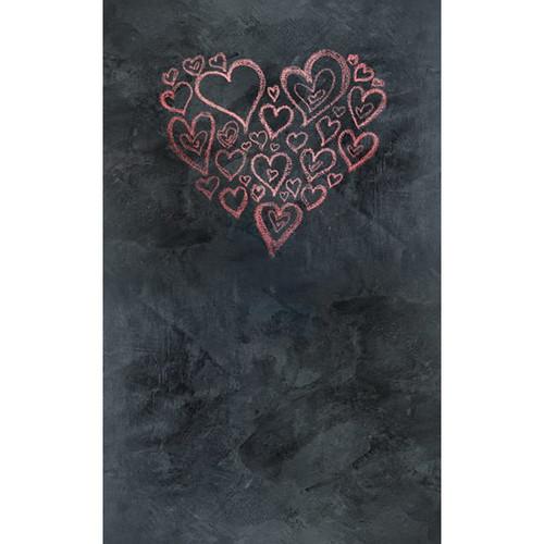 Click Props Backdrops Chalkboard Heart Red Backdrop (5 x 8')