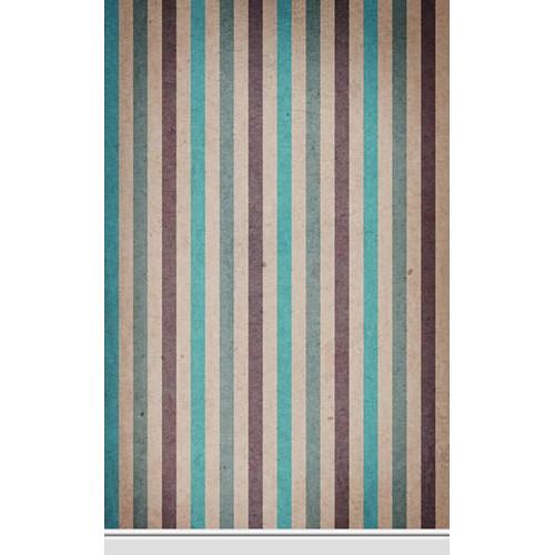 Click Props Backdrops Paper Stripe Teal Backdrop (5 x 8')