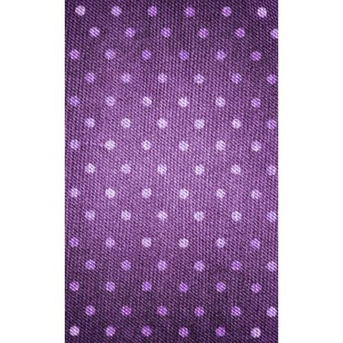 Click Props Backdrops Denium Dots Purple Backdrop (5 x 8')