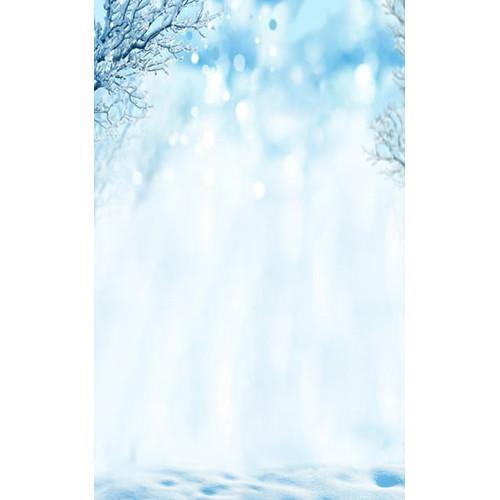 Click Props Backdrops Iced Trees Backdrop (5 x 8')