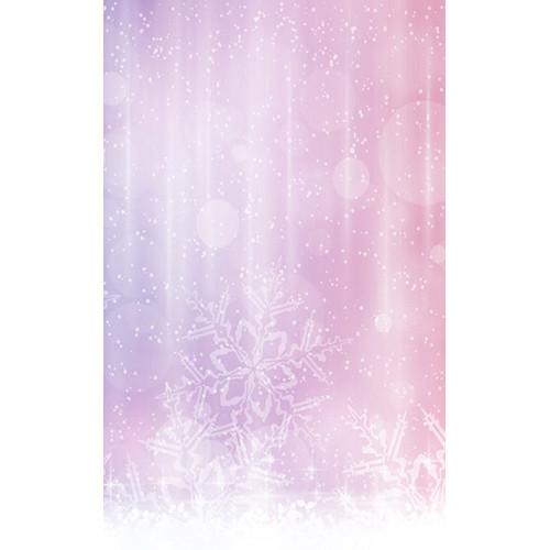 Click Props Backdrops Pink Snowflake Backdrop (5 x 8')