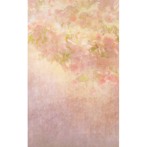 Click Props Backdrops Flower Painting Peach Backdrop (5 x 8')