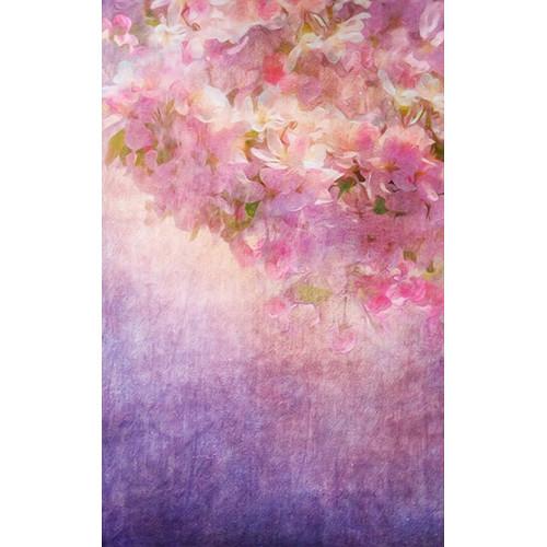 Click Props Backdrops Flower Painting Purple Backdrop (5 x 8')