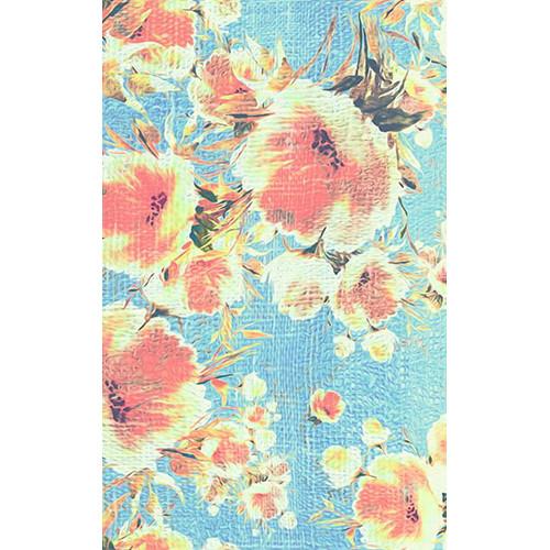 Click Props Backdrops Poppies Blue Backdrop (5 x 8')