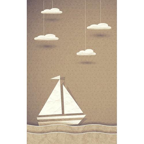 Click Props Backdrops Paper Ship Brown Backdrop (5 x 8')