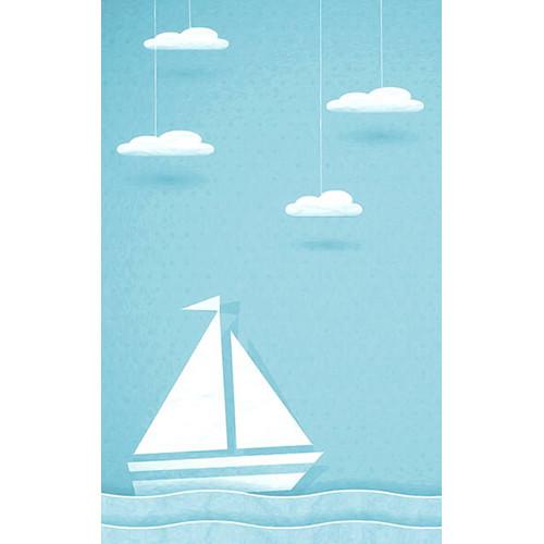 Click Props Backdrops Paper Ship Blue Backdrop (5 x 8')