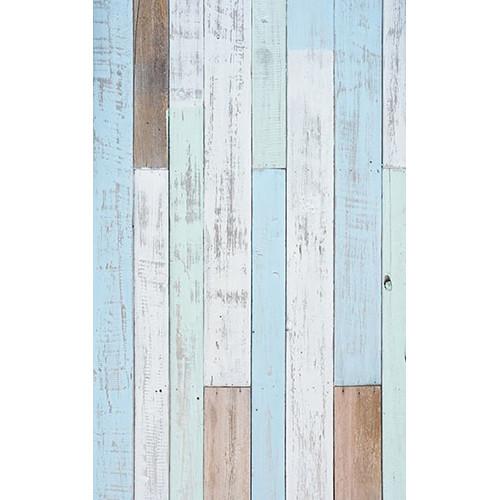 Click Props Backdrops Pastel Blue Decking Backdrop (5 x 8')