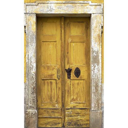Click Props Backdrops Yellow Tuscan Door Backdrop (5 x 8')