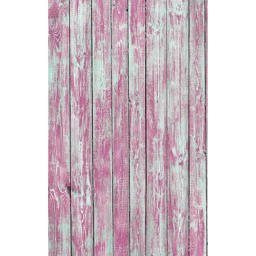 Click Props Backdrops Pink Stripped Plank Backdrop (5 x 8')