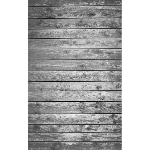 Click Props Backdrops Soft Gray Plank Backdrop (5 x 8')