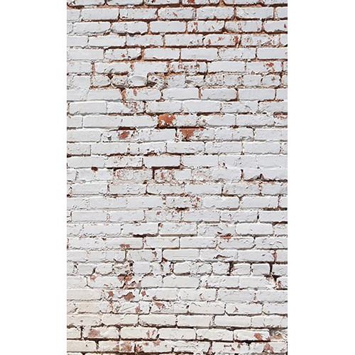 Click Props Backdrops White Painted Brick Wall Backdrop (5 x 8')