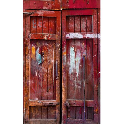 Click Props Backdrops Red Barn Door Backdrop (5 x 8')