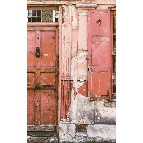Click Props Backdrops Urban Red Door Backdrop (5 x 8')