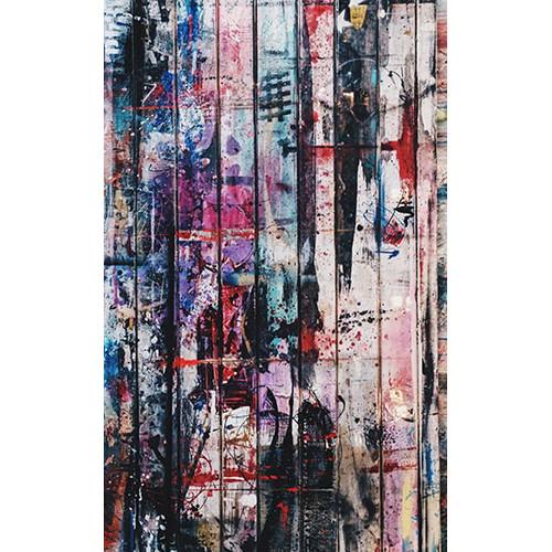 Click Props Backdrops Graffiti Plank Backdrop (5 x 8')