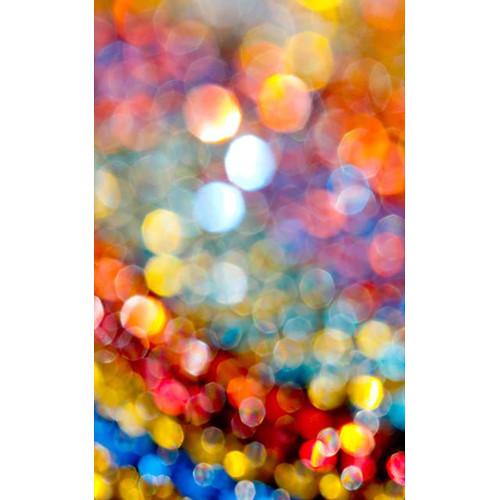 Click Props Backdrops Rainbow Bokeh Backdrop (5 x 8')
