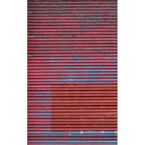 Click Props Backdrops Metallic Red Shutter Backdrop (5 x 8')