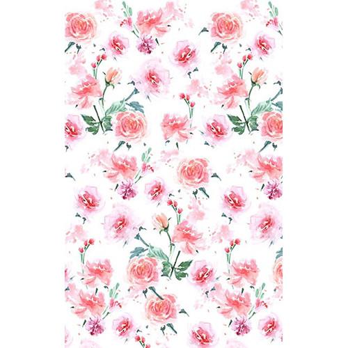 Click Props Backdrops Hand Painted Roses Backdrop (5 x 8')