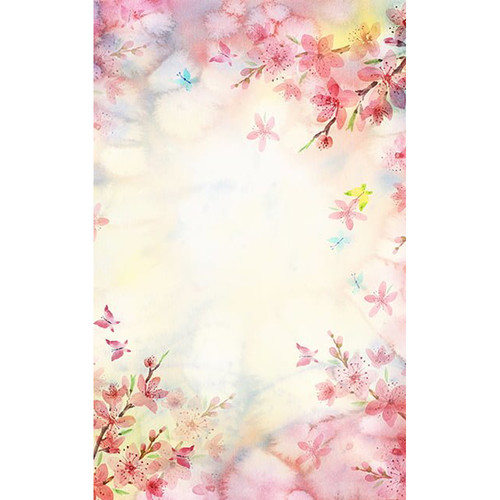 Click Props Backdrops Butterfly Watercolor Backdrop (5 x 5')