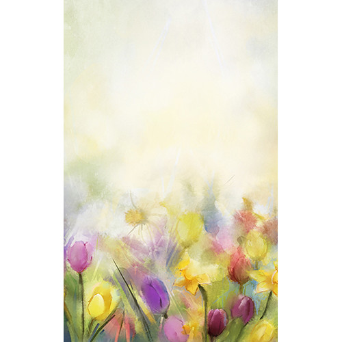Click Props Backdrops Painted Flowers Backdrop (5 x 8')
