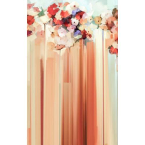 Click Props Backdrops Rouge Flower Streaks Backdrop (5 x 8')