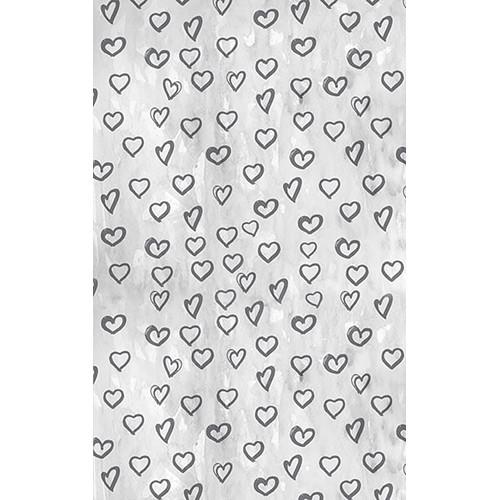 Click Props Backdrops Silver Hearts Backdrop (5 x 8')