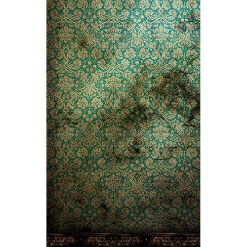 Click Props Backdrops Derelict Damask Green Backdrop (5 x 8')