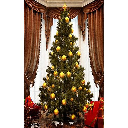 Click Props Backdrops Grand Christmas Tree Backdrop (5 x 8')