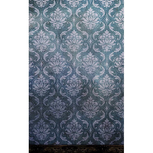 Click Props Backdrops Metallic Gray Damask Backdrop (5 x 8')