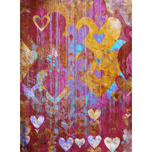 Click Props Backdrops Hearts Brown Backdrop (7 x 9.5')