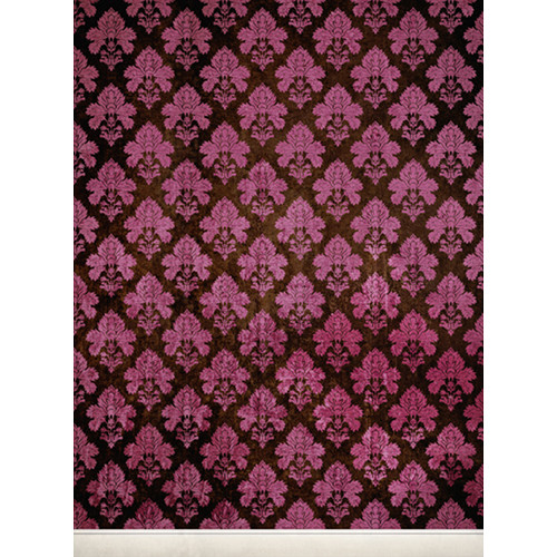 Click Props Backdrops Damask Dark Pink Backdrop (7 x 9.5')