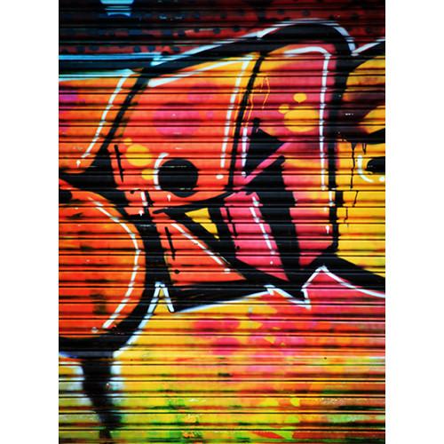 Click Props Backdrops Shutter Graffiti 1 Backdrop (9.5 x 7')
