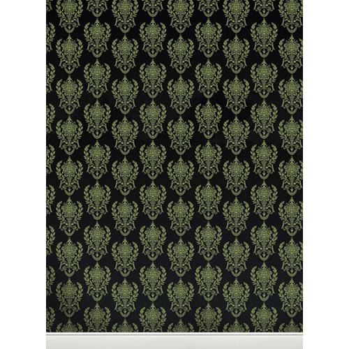 Click Props Backdrops Damask2 B Green Backdrop (9.5 x 7')