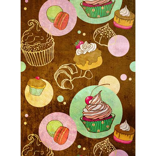 Click Props Backdrops Cupcakes Backdrop (7 x 9.5')