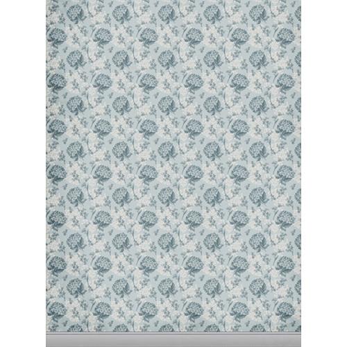 Click Props Backdrops Floral Wallpaper Blue Backdrop (7 x 9.5')