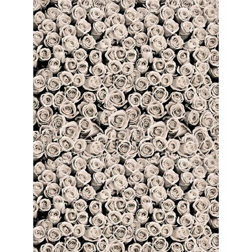 Click Props Backdrops Roses White Backdrop (7 x 9.5')