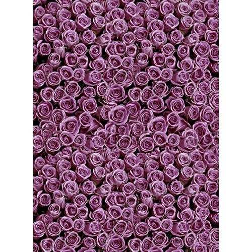 Click Props Backdrops Roses Purple Backdrop (7 x 9.5')