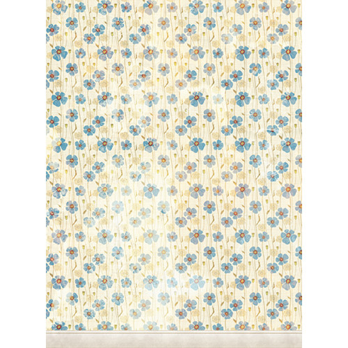 Click Props Backdrops Dirty Blue Poppies Backdrop (7 x 9.5')
