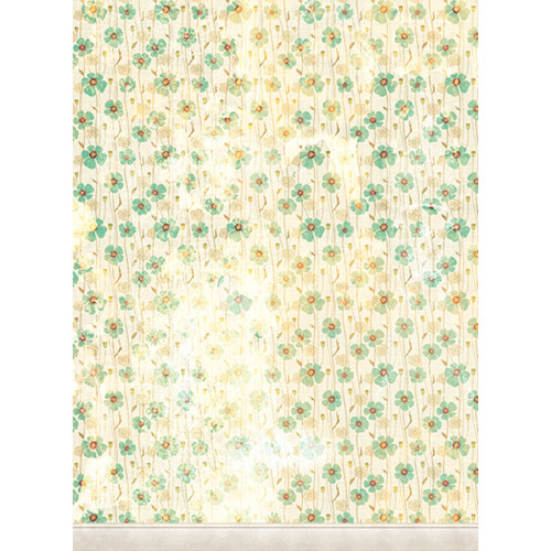 Click Props Backdrops Dirty Green Poppies Backdrop (9.5 x 7')