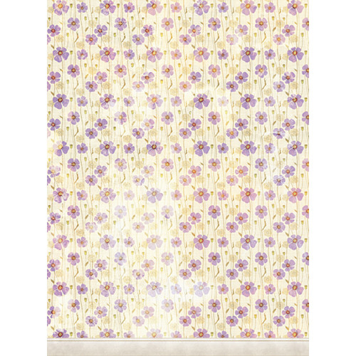 Click Props Backdrops Dirty Purple Poppies Backdrop (9.5 x 7')