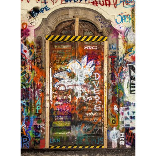 Click Props Backdrops Graffiti Door 2 Backdrop (7 x 9.5')