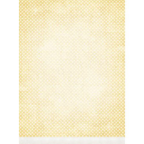 Click Props Backdrops Polka Dot Yellow Backdrop (7 x 9.5')