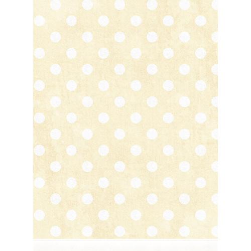 Click Props Backdrops Large Polka Dot Yellow Backdrop (7 x 9.5')