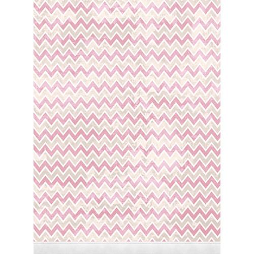 Click Props Backdrops Zigzag Pink Backdrop (7 x 9.5')