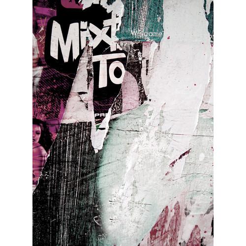 Click Props Backdrops Newspaper Wall Pink Backdrop (7 x 9.5')