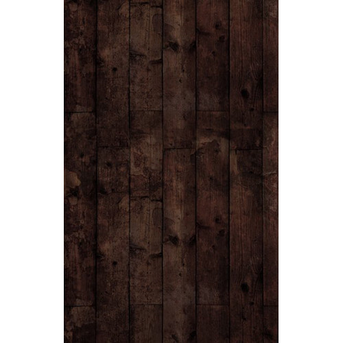 Click Props Backdrops Floor Wood Stained Black Backdrop (7 x 9.5')