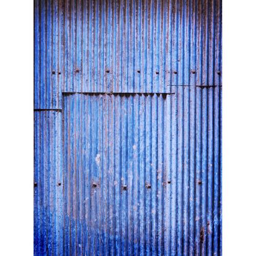 Click Props Backdrops Blue Corrugated Panel Backdrop (7 x 9.5')