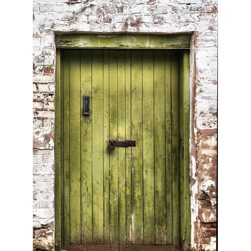 Click Props Backdrops Green Padlocked Door Backdrop (7 x 9.5')